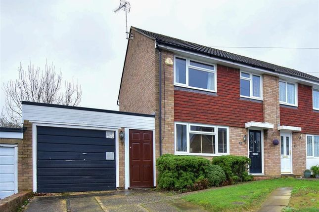 Thumbnail Semi-detached house for sale in Woodlands Way, Southwater, West Sussex