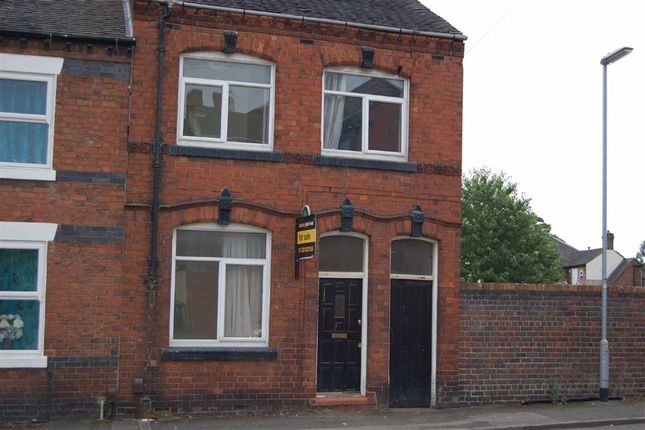 Thumbnail End terrace house for sale in Warwick Street, Chesterton, Newcastle