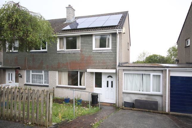Thumbnail Semi-detached house to rent in Penarrow Close, Falmouth