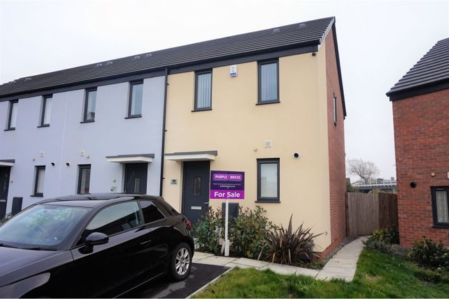 Thumbnail End terrace house for sale in Clos Onnen, Barry