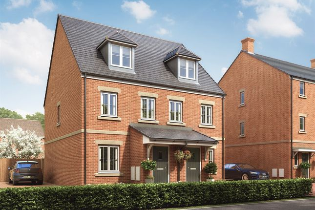 "Thumbnail Semi-detached house for sale in ""The Saunton"" at Desborough Road, Rothwell, Kettering"