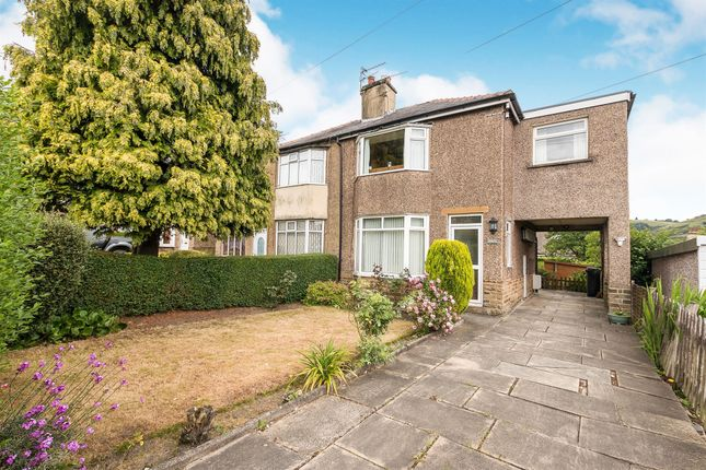 Thumbnail 3 bed semi-detached house for sale in Watkinson Drive, Holmfield, Halifax