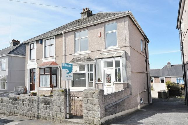 Thumbnail Semi-detached house for sale in Burnham Park Road, Plymouth