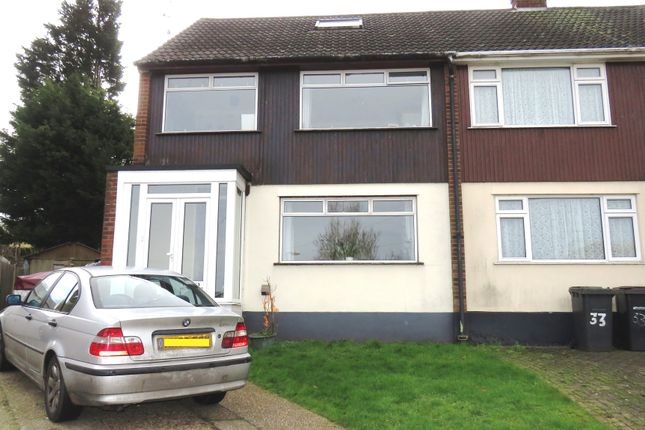Thumbnail Semi-detached house for sale in Downhall Close, Rayleigh