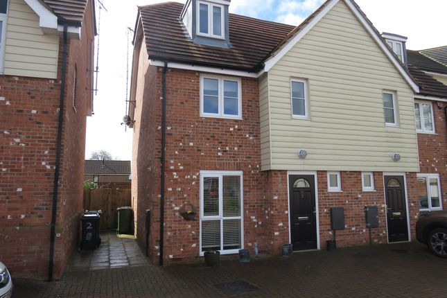 Thumbnail Town house for sale in Westwood Close, Lenham, Maidstone