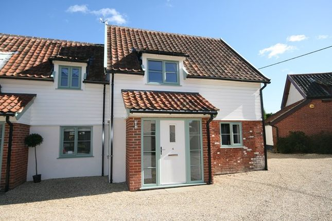 Thumbnail Semi-detached house for sale in The Turnpike, Carleton Rode, Norwich