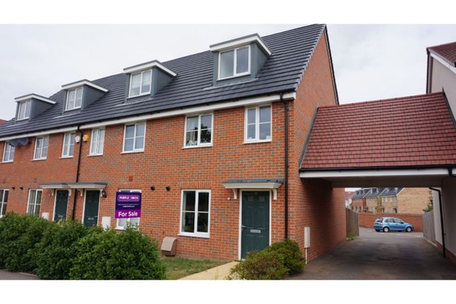 Thumbnail End terrace house for sale in Haygreen Road, Witham