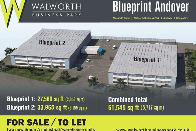 Thumbnail Warehouse to let in Blueprint Plot 35, Walworth Business Park, Andover, Hampshire