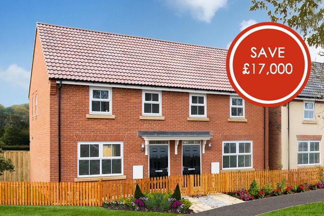 "Thumbnail Semi-detached house for sale in ""Archford"" at Tranby Park, Jenny Brough Lane, Hessle"