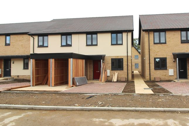 Thumbnail End terrace house for sale in Squires Close, Cambridge, Cambrdigeshire