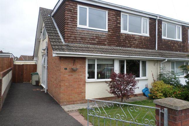 Thumbnail Semi-detached house for sale in Alyson Way, Pencoed, Bridgend