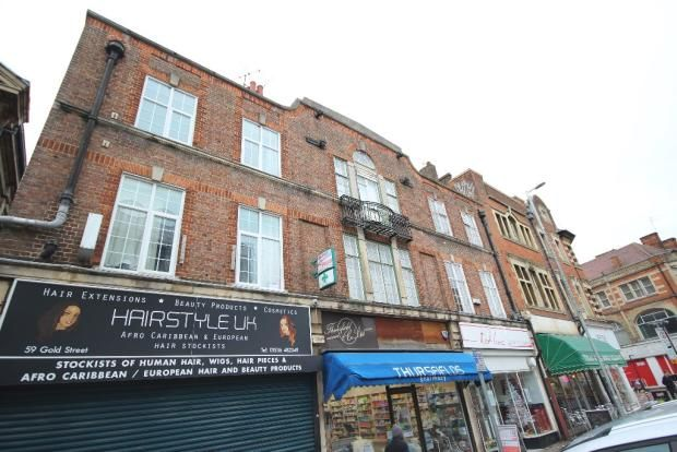 Thumbnail Flat to rent in Gold Street, Kettering