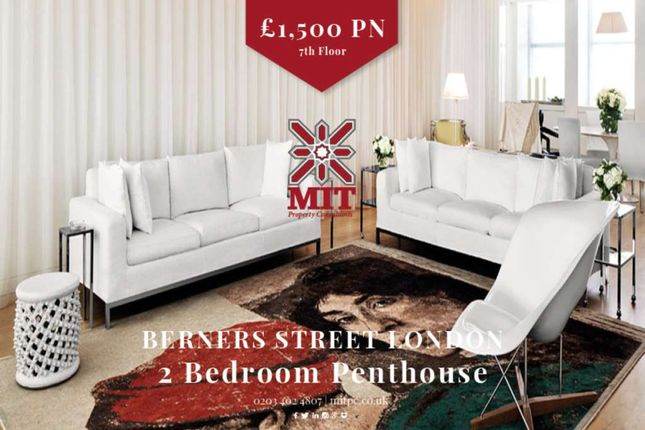 Thumbnail Penthouse to rent in Berners Street, London