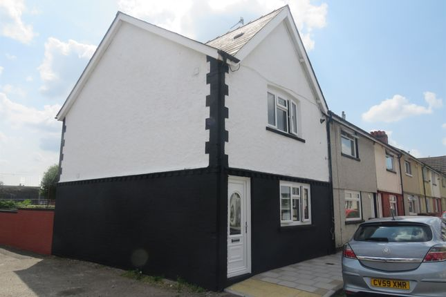 Thumbnail End terrace house for sale in William Street, Tir-Y-Berth, Hengoed