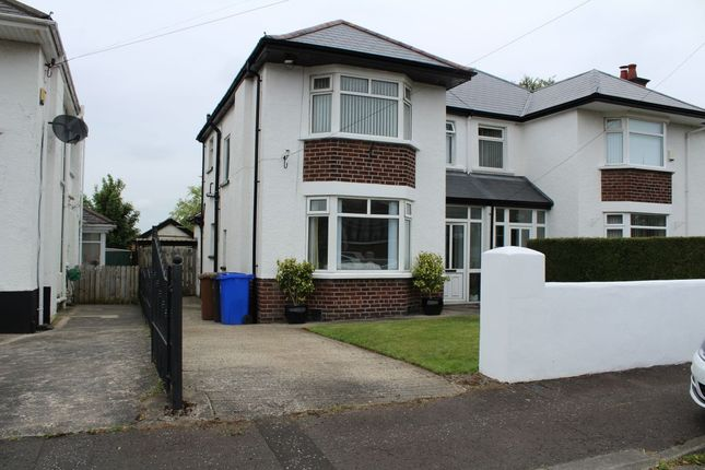 Thumbnail Semi-detached house to rent in Kingsway Avenue, Belfast