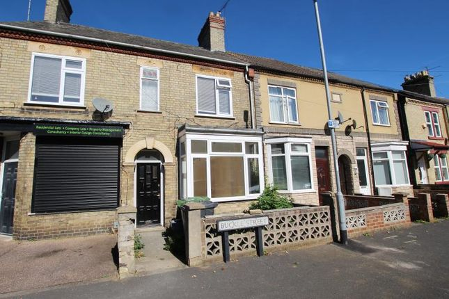 Thumbnail Terraced house to rent in Buckle Street, Peterborough