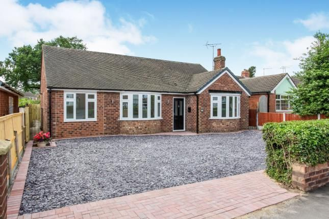 Thumbnail Bungalow for sale in Danebank Avenue, Crewe, Cheshire