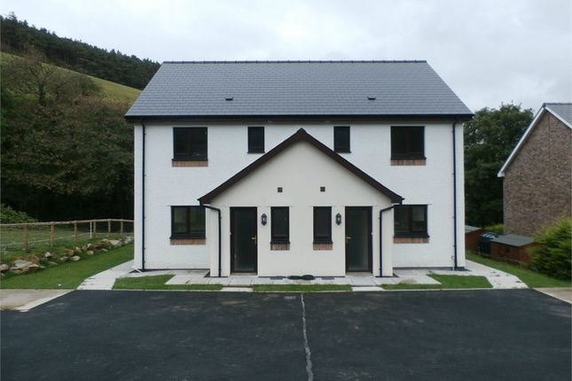 Thumbnail Semi-detached house for sale in Plot Adjoining Aber Ddwynant, Llanafan, Aberystwyth