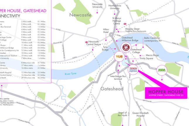 Location Map of Hopper Street, Gateshead NE8