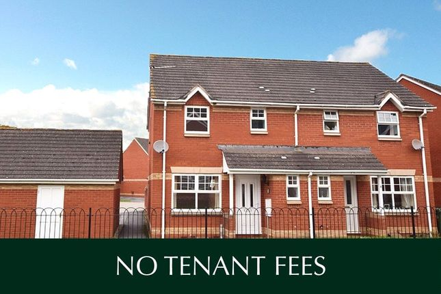 Thumbnail Semi-detached house to rent in Knights Crescent, Exeter