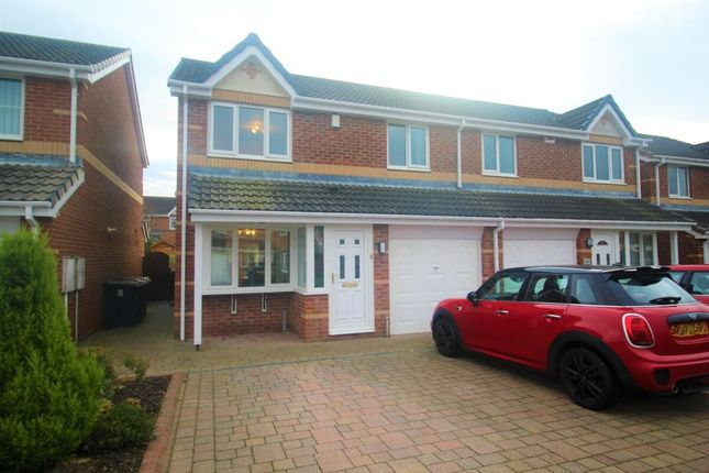 Thumbnail Semi-detached house for sale in Nenthead Close, Great Lumley, Chester Le Street
