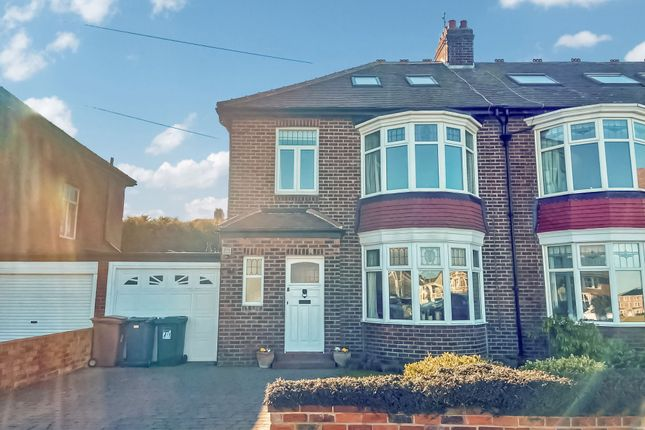 Thumbnail Semi-detached house for sale in Seafield View, Tynemouth, North Shields