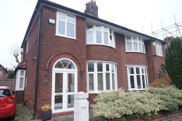 Thumbnail Property to rent in Westholme Road, Didsbury, Manchester