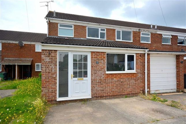 Thumbnail End terrace house to rent in Tidswell Close, Quedgeley, Gloucester