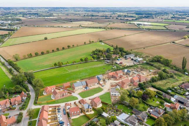 Aerial of Middle Lane, Thorpe-On-The-Hill, Lincoln LN6