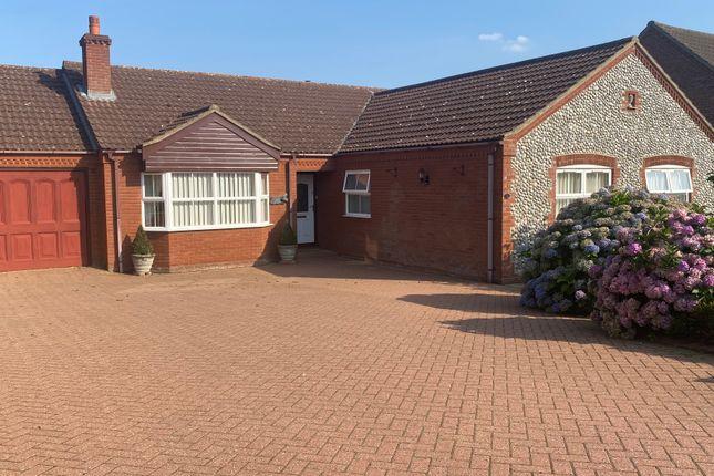 Thumbnail Detached bungalow for sale in Warren Avenue, Fakenham