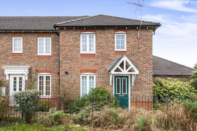 Thumbnail End terrace house for sale in Rose Farm Close, Ferndown