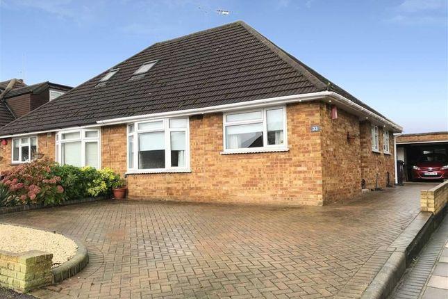 Thumbnail Semi-detached bungalow for sale in Alderwood Drive, Abridge, Romford