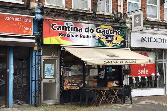 Thumbnail Restaurant/cafe for sale in Amhurst Parade, Amhurst Park, London