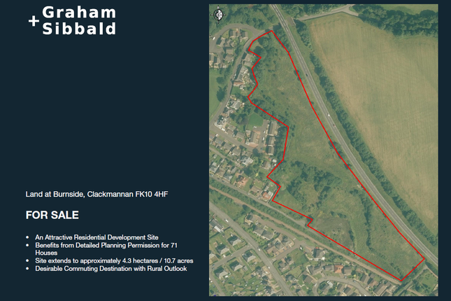 Thumbnail Land for sale in Burnside Clackmannan, Clackmannan