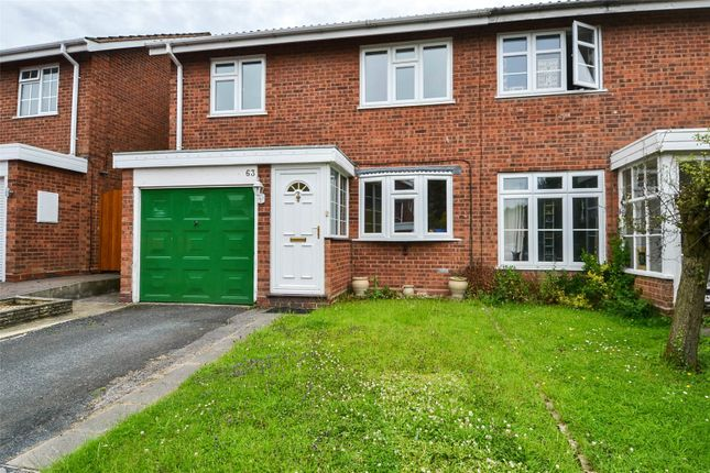 Thumbnail Semi-detached house to rent in Edgmond Close, Redditch