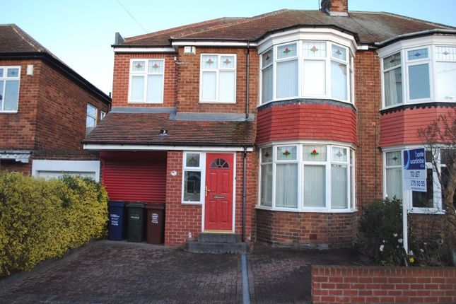 Thumbnail Semi-detached house to rent in Westbourne Avenue, Gosforth, Newcastle Upon Tyne