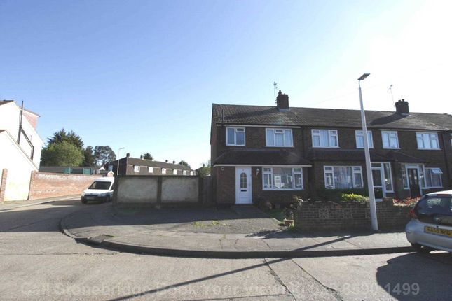 Thumbnail End terrace house for sale in Frinton Road, Romford