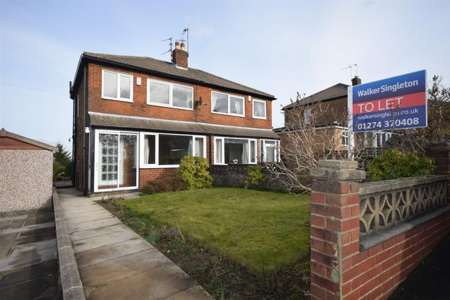 Thumbnail Semi-detached house to rent in Pasture Rise, Clayton, Bradford