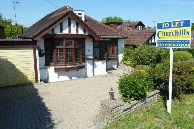 Thumbnail Detached bungalow to rent in Caldecote Gardens, Bushey