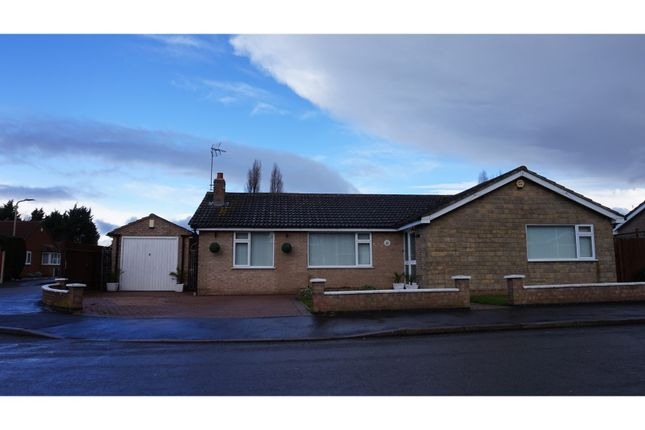 Thumbnail Detached bungalow for sale in Roman Way, Syston