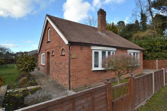 Thumbnail Detached bungalow for sale in Compton Road, Church Crookham, Fleet