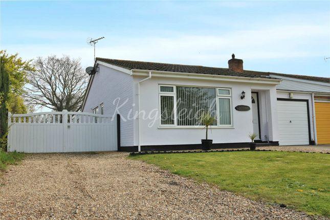 Thumbnail Semi-detached bungalow for sale in Partridge Close, Great Oakley, Harwich, Essex