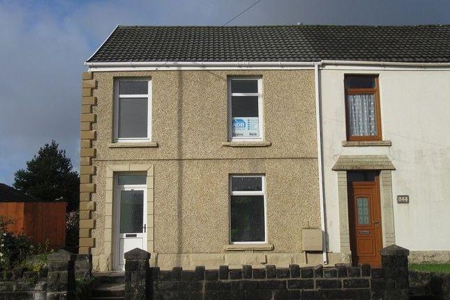 Thumbnail End terrace house for sale in Llangyfelach Road, Treboeth, Swansea.