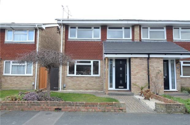 Thumbnail End terrace house for sale in Woburn Avenue, Farnborough, Hampshire