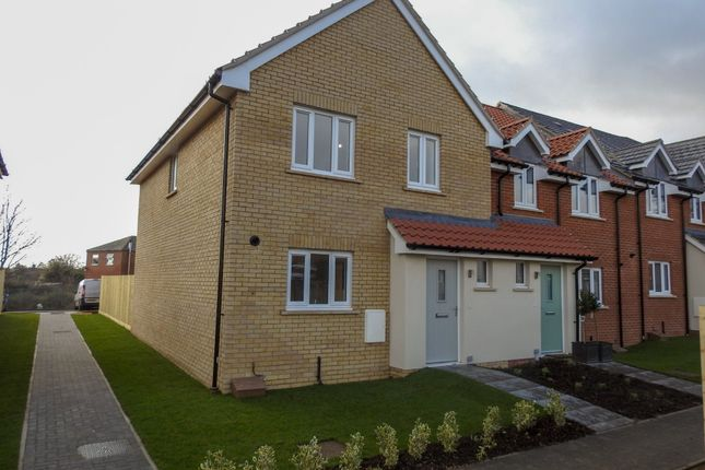 Thumbnail End terrace house for sale in Carr Avenue, Leiston, Suffolk