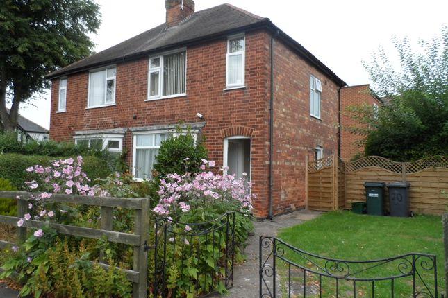 Semi-detached house to rent in Blenheim Avenue, Mapperley, Nottingham