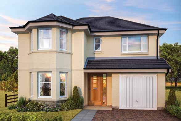 Thumbnail Detached house for sale in The Crawford, Ostlers Way, Kirkcaldy, Fife