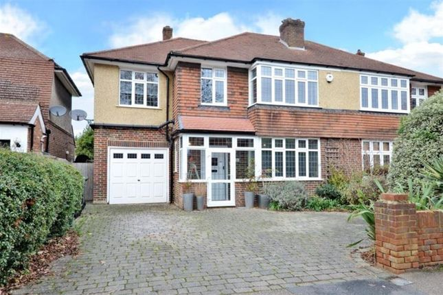 Thumbnail Semi-detached house for sale in Church Road, Worcester Park, Surrey