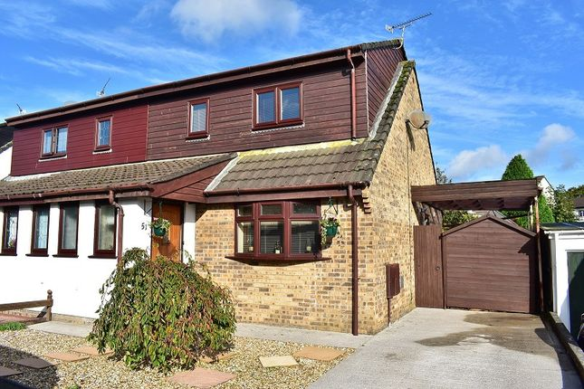 Thumbnail Semi-detached house for sale in Gregory Close, Pencoed, Bridgend .