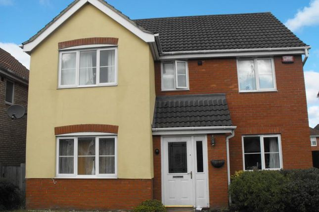 Thumbnail Detached house for sale in Tizzick Close, Norwich